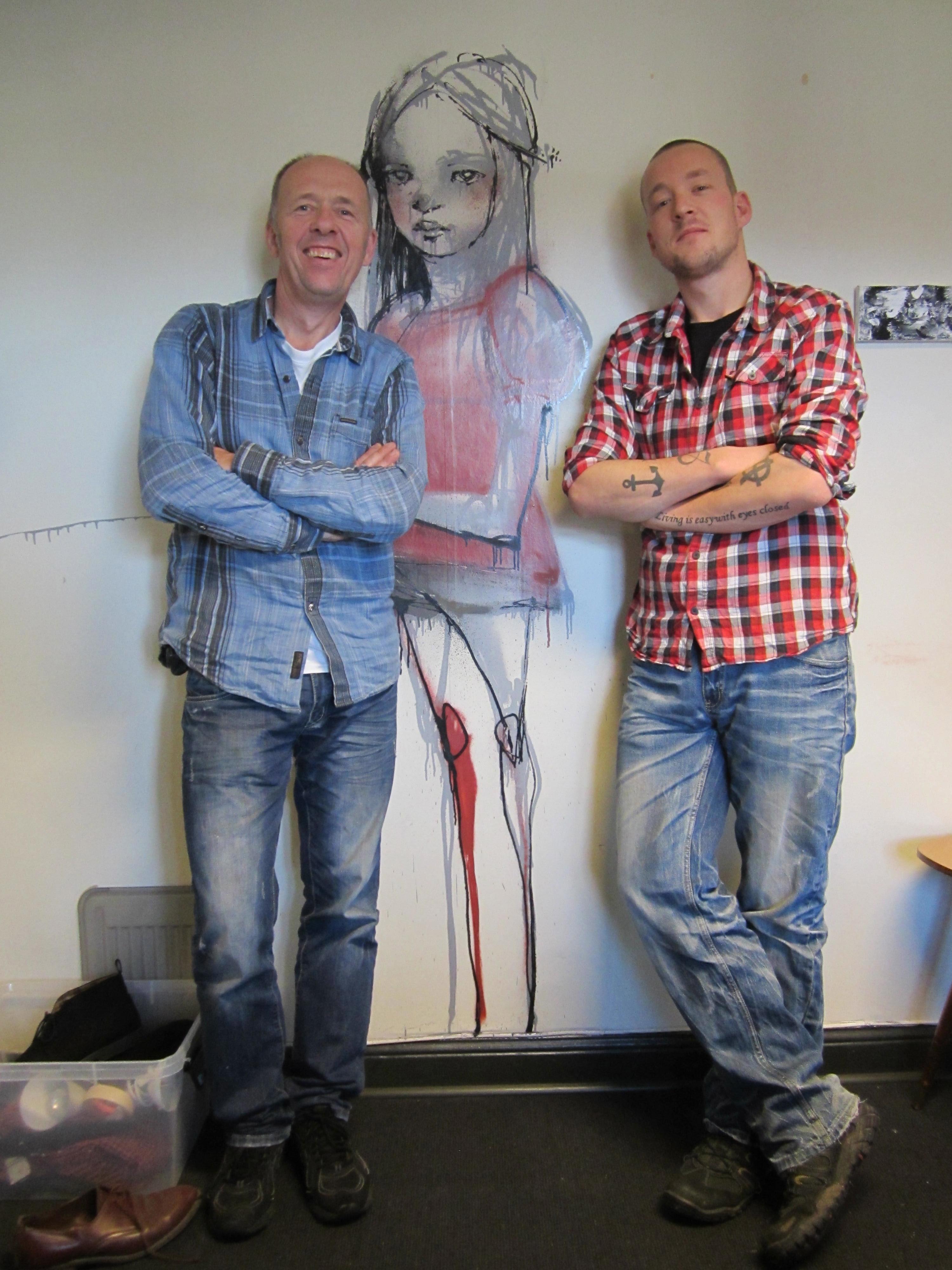 Tobias og Lars på Avviket foran Herkuts strek